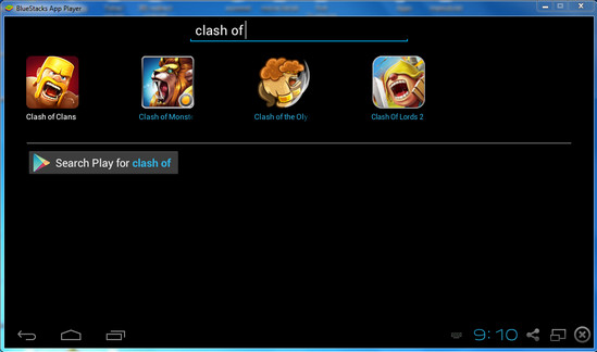 Download Clash of Clans using BlueStacks