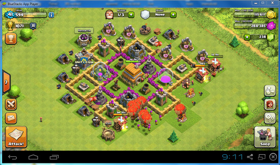Play Clash of Clans on PC using BlueStacks