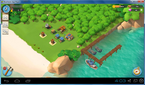 Playing Boom Beach on PC with BlueStacks