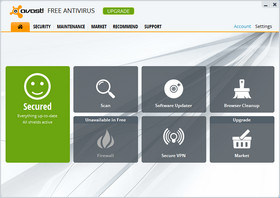 Avast Antivirus Interface