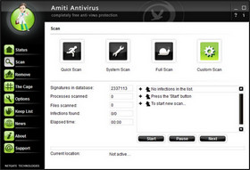 Amiti Antivirus Interface