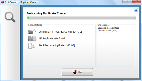 Scanning for Duplicate Files