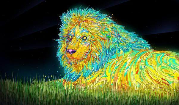 Psychedelic Desktop Lion