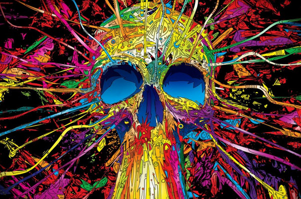 Incredible Neon Skull Wallpaper: 30+ Trippy Backgrounds For Your Desktop And Mobile