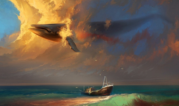 Flying Whale Background
