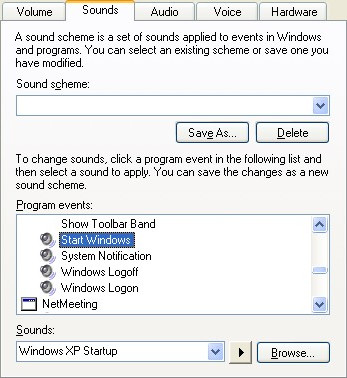 Windows XP Startup sound change