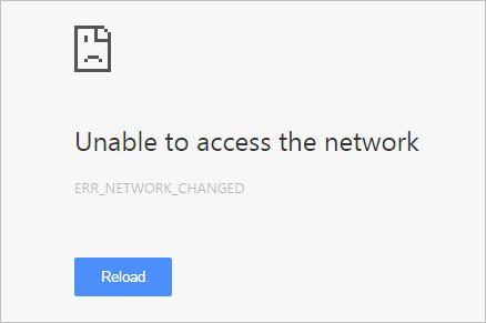 Err Network Changed Error