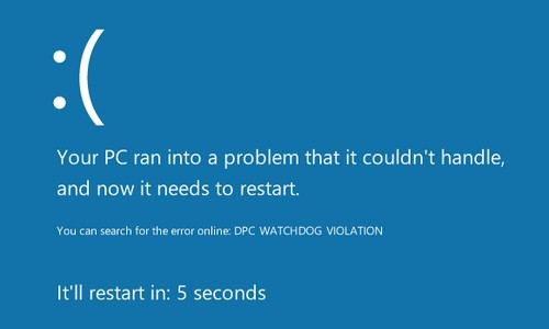 Fix 'Dpc Watchdog Violation' in Windows