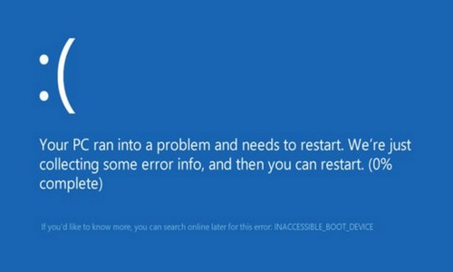 Fix 'Inaccessible Boot Device' in Windows