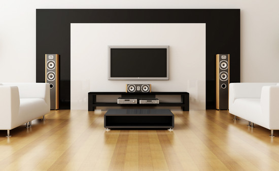 Floor Standing Speakers In Living Room