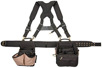 CLC Custom Leathercraft 1608 Electrician's Comfort Lift Combo Rig Tool Belt-compartments