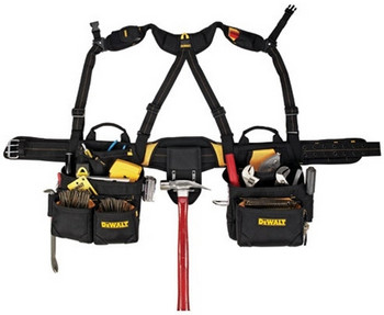 DEWALT DG5641 20 Pocket Framer's Combo Apron with Suspenders