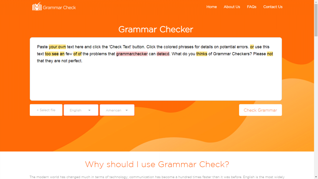 Grammar Checker Tool