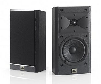 JBL Arena 120 Black 2-way 5.5-inch Wall Mount Bookcase Speaker (Black)