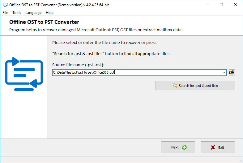 Outlook OST to PST file Converter - Incredible Lab