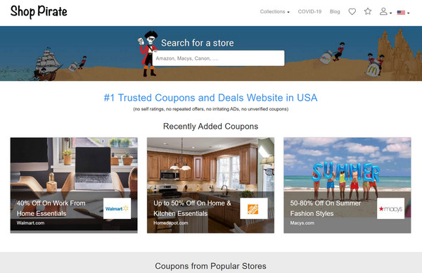 ShopPirate website