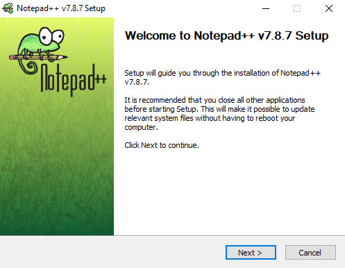Notepad ++ installer